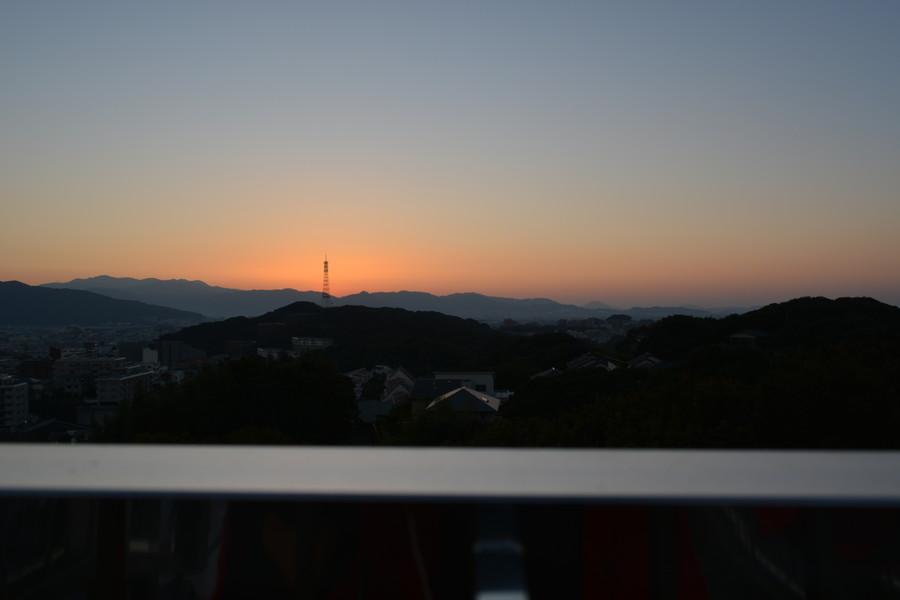 夕日が沈むー。