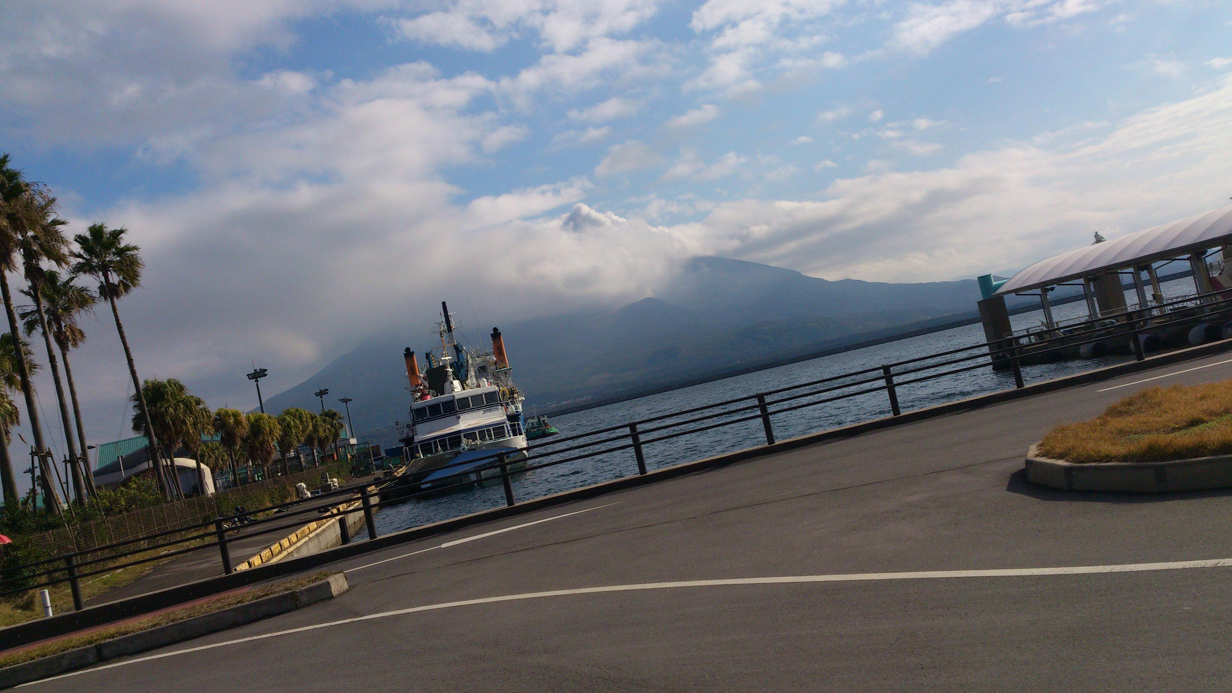 2012年12月。僕は種子島を一人で旅した:夜行バス降りたらすぐに「桜島」が見えた