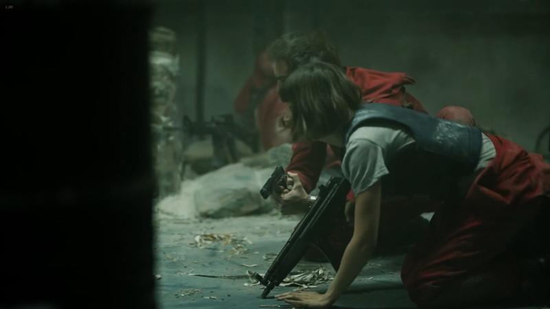 ペーパーハウス:シーズン1:12話での銃撃戦