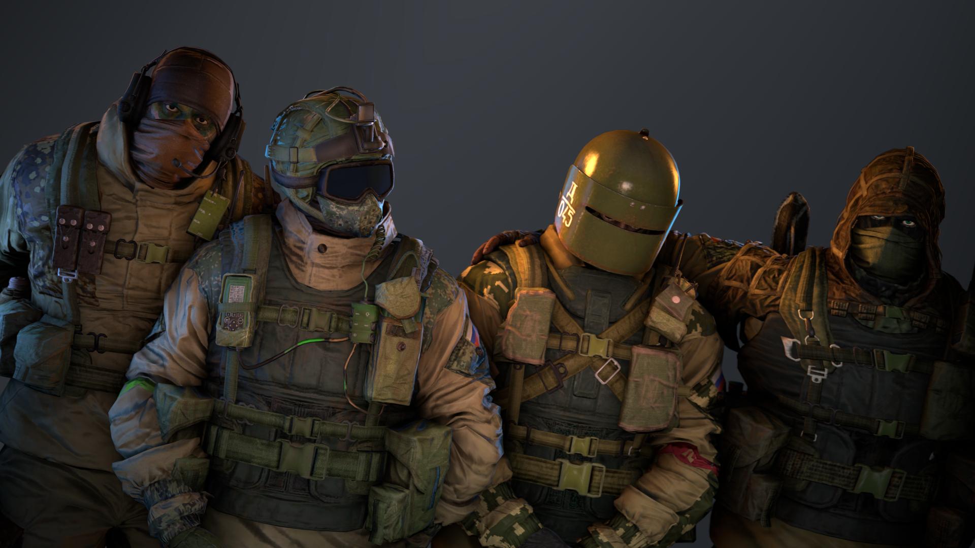 火力が強いスペツナズ部隊(左から、GLAZ、FUZE、TACHANKA、KAPKAN