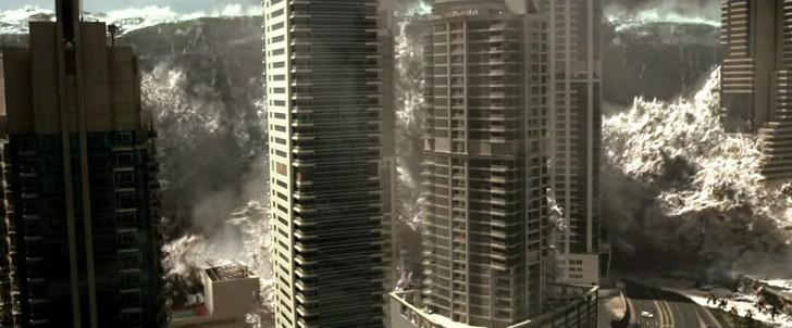 「ジオストーム」感想:津波に飲み込まれる街