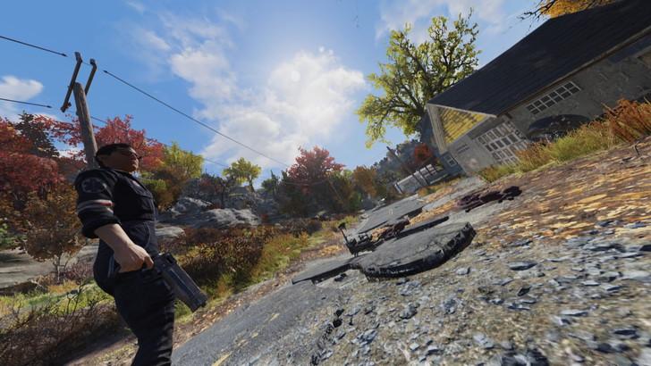 「Fallout76(フォールアウト76)」過去作との違い・変更点10個:キレイな青空