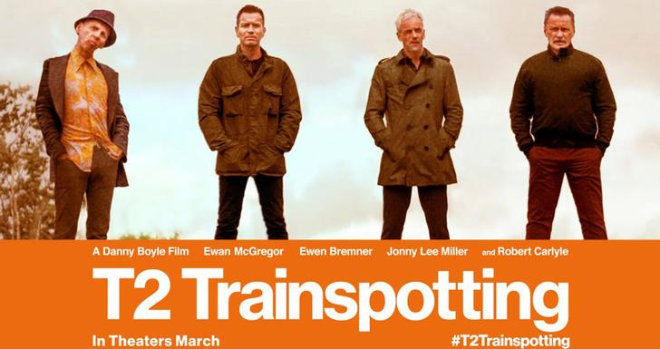 """【80点】あの""""演出""""が帰ってきた!「トレインスポッティング2(T2)」評価と感想:成熟した4人のおっさん達"""