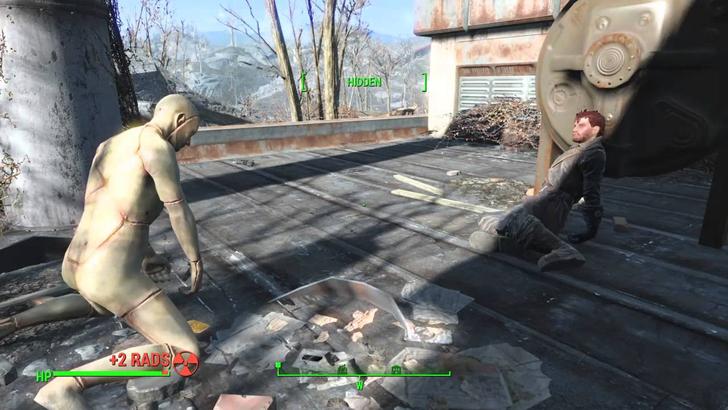 「fallout4散歩」の魅力⑤想像力を掻き立てられるオブジェクトの数々
